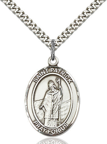 St. Patrick Pendant (Sterling Silver)