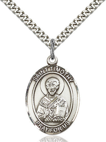 Image of St. Timothy Pendant (Sterling Silver)