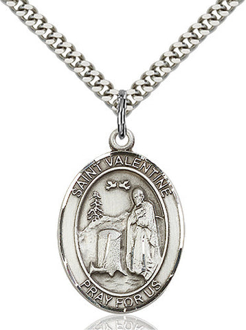 Image of St. Valentine of Rome Pendant (Sterling Silver)