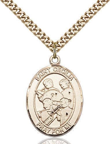 Image of St. Cecilia / Marching Band Pendant (Gold Filled)