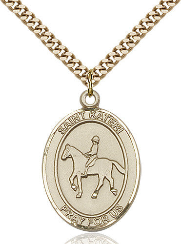 Image of St. Kateri / Equestrian Pendant (Gold Filled)