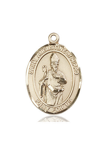 st_augustine_of_hippo_medal_14kt_gold