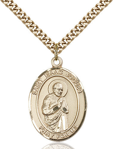 Image of St. Isaac Jogues Pendant (Gold Filled)