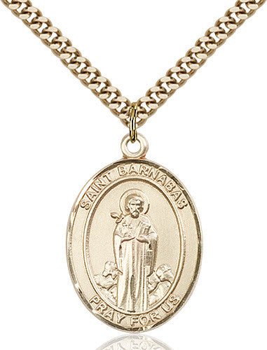 Image of St. Barnabas Pendant (Gold Filled)