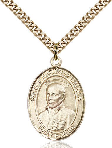 Image of St. Ignatius of Loyola Pendant (Gold Filled)