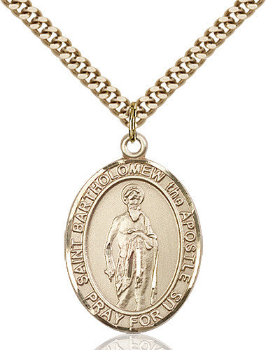 Image of St. Bartholomew the Apostle Pendant (Gold Filled)