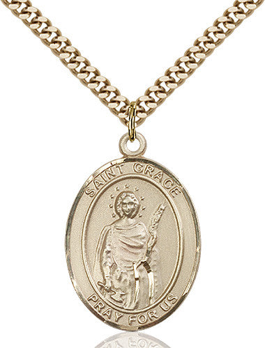 Image of St. Grace Pendant (Gold Filled)