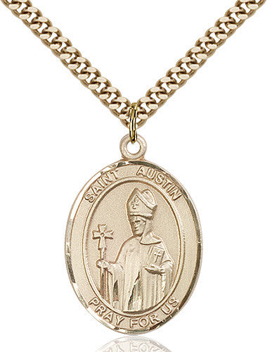Image of St. Austin Pendant (Gold Filled)
