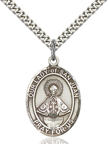 Image of Our Lady of San Juan Pendant (Sterling Silver)