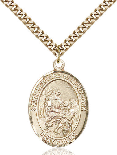 Image of St. Bernard of Montjoux Pendant (Gold Filled)