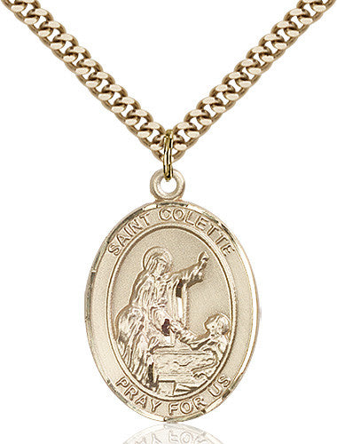 Image of St. Colette Pendant (Gold Filled)