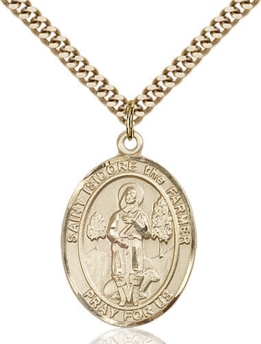 Image of St. Isidore the Farmer Pendant (Gold Filled)