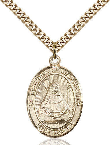 Image of St. Edburga of Winchester Pendant (Gold Filled)