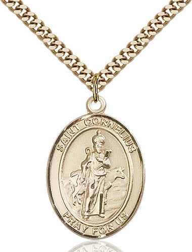 Image of St. Cornelius Pendant (Gold Filled)