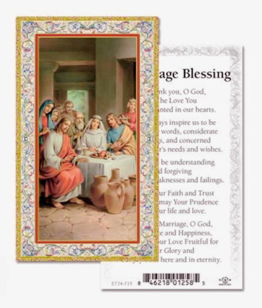 Marriage Blessings Holy Card