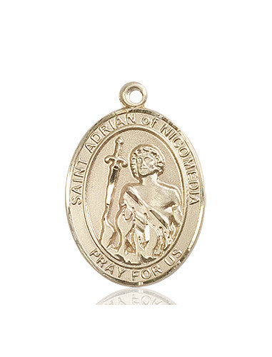 st_adrian_of_nicomedia_medal_14kt_gold