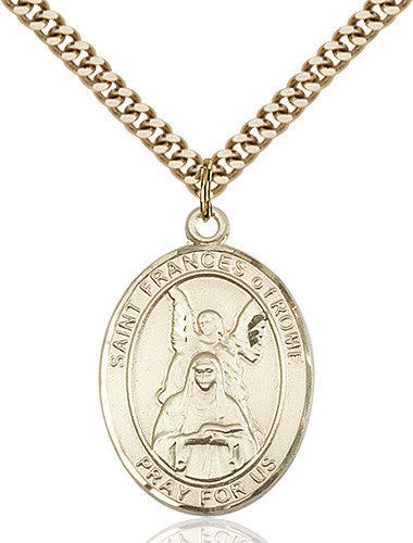 Image of St. Frances Of Rome Pendant (Gold Filled)
