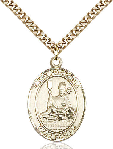 Image of St. Honorius Pendant (Gold Filled)