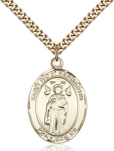 Image of St. Ivo Pendant (Gold Filled)