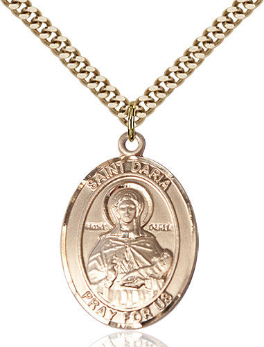 Image of St. Daria Pendant (Gold Filled)
