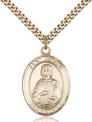 Image of St. Gerald Pendant (Gold Filled)
