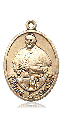 Pope Francis Oval Medal (14kt Gold)