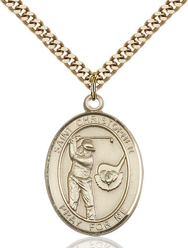Image of St. Christopher/Golf Pendant (Gold Filled)