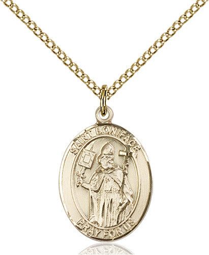 Image of St. Boniface Pendant (Gold Filled)