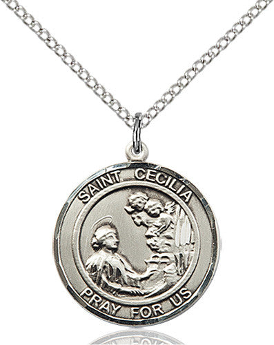 Image of St. Cecilia Pendant (Sterling Silver)