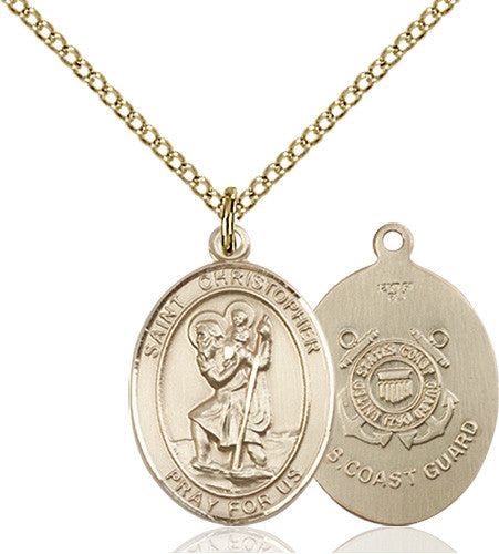 Image of St. Christopher / Coast Guard Pendant (Gold Filled)