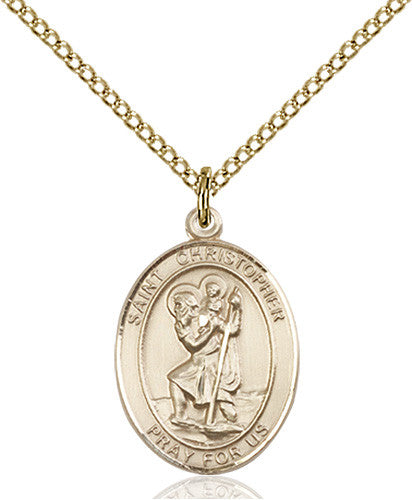 Image of St. Christopher Pendant (Gold Filled)