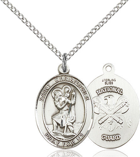 Image of St. Christopher / Nat'l Guard Pend (Sterling Silver)