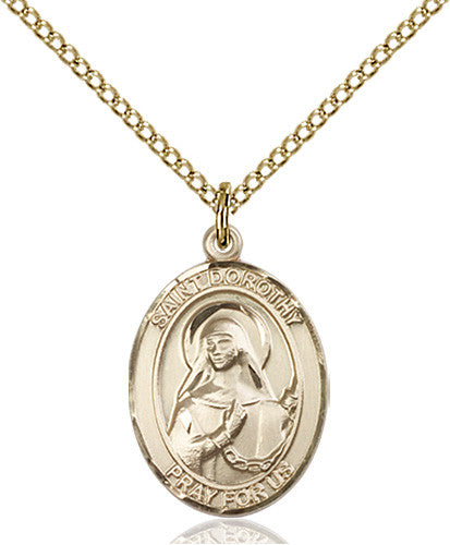 Image of St. Dorothy Pendant (Gold Filled)