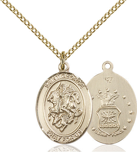 Image of St. George / Air Force Pendant (Gold Filled)