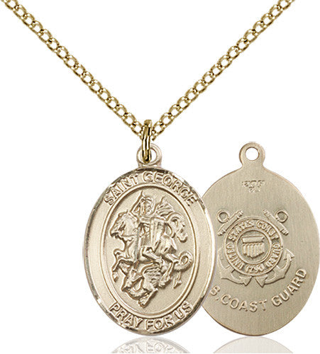 Image of St. George / Coast Guard Pendant (Gold Filled)