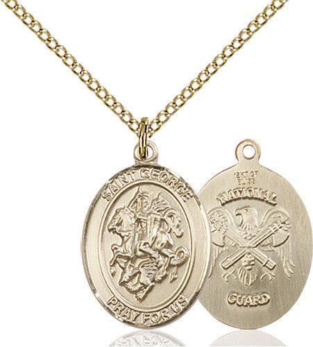 Image of St. George / Nat'L Guard Pendant (Gold Filled)