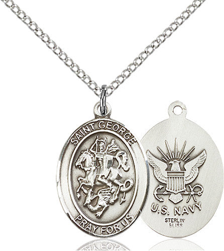 Image of St. George / Navy Pendant (Sterling Silver)