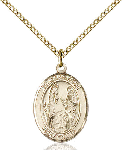 Image of St. Genevieve Pendant (Gold Filled)