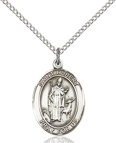 Image of St. Hubert of Liege Pendant (Sterling Silver)