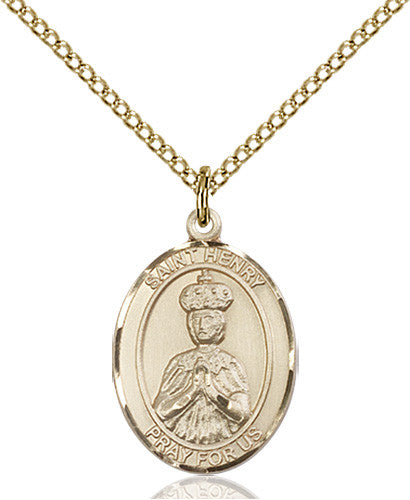 Image of St. Henry II Pendant (Gold Filled)