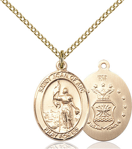 Image of St. Joan Of Arc / Air Force Pendant (Gold Filled)