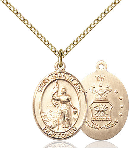 Image of St. Joan Of Arc /Coast Guard Pendant (Gold Filled)