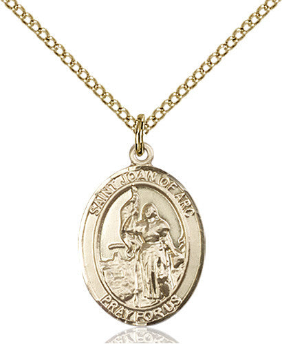 Image of St. Joan of Arc Pendant (Gold Filled)