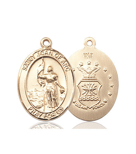 st_joan_of_arc_medal_14kt_gold