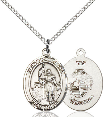 Image of St. Joan Of Arc / Marines Pendant (Sterling Silver)
