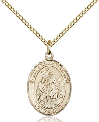 Image of St. John the Baptist Pendant (Gold Filled)
