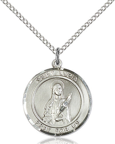 St. Lucia of Syracuse Pendant (Sterling Silver)