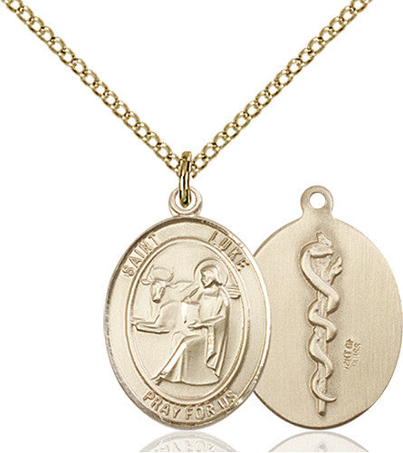 Image of St. Luke the Apostle / Doctor Pendant (Gold Filled)