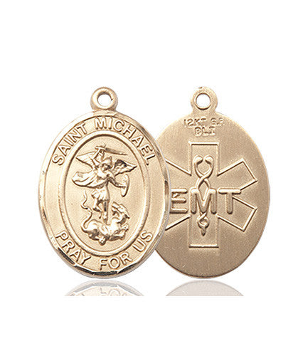 St michael medals free ship 49 catholic online shopping st michael emt medal 14kt gold aloadofball Image collections