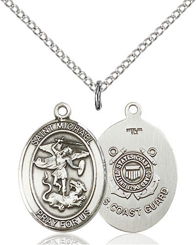 Image of St. Michael / Coast Guard Pendant (Sterling Silver)